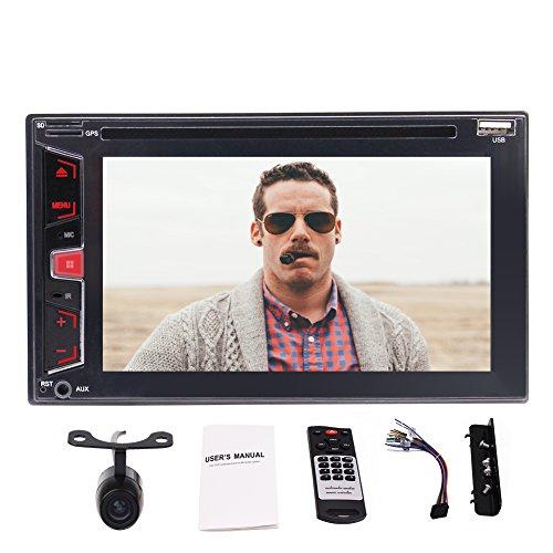 Wince Double 2 din Autoradio keine GPS-in-dash-1080P DVD-Steuergerät CD-Player automagnitol Unterstützung Bluetooth / USB / Front-AUX-Autoradio / Video-und Audio / AM / FM / RDS / Lenkradsteuerung + Rückfahrkamera (Laut Cd Player Für Auto)