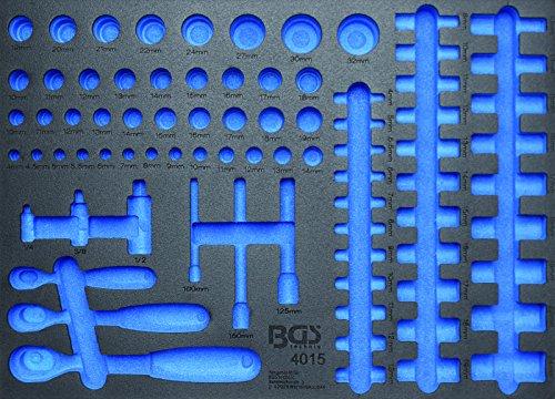Preisvergleich Produktbild BGS 3/3 Werkstattwageneinlage für Umschaltknarren und Steckschlüsseleinsätze, leer, 4015-5