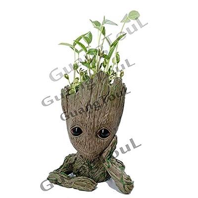 GuangTouL Groot Action-Figuren Wächter der Galaxy Blumentopf Baby Cute Modell Spielzeug Pen Pot mit Groot Baby Lanyard von GuangTouL - Du und dein Garten