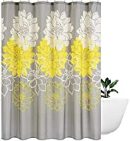 Wimaha Peony Flower Fabric Shower Curtain Water Resistant Standard Shower Bath Curtain for Bathroom, Shower, B