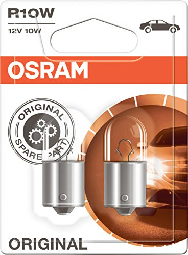Preisvergleich Produktbild OSRAM ORIGINAL R10W Halogen,  Schluss-,  Kennzeichen-,  Park- und Positionslicht,  5008-02B,  12V PKW,  Doppelblister (2 Stück)