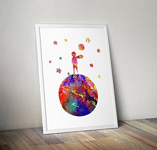 Der kleine Prinz inspiriert Aquarell Poster Print Geschenke - Alternative TV/Movie Poster in verschiedenen Größen (Rahmen nicht enthalten)