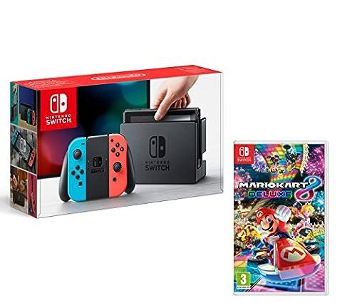 Nintendo Switch Konsole 32Gb Neon-Rot/Neon-Blau + Mario Kart 8