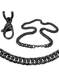 Collar Cadena O Pulsera Ø 10mm Acero Inoxidable Sólido Negro Plata Oro 22-100cm Cadena Rey Eslabones Hombre Mujer Enlace