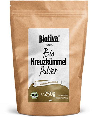 Küche Zutaten Mexikanische (Kreuzkümmel gemahlen (Bio, 250g) I Kumin- oder Cuminpulver in Top Qualität I 100% Bio-Qualität I Abgepackt und kontrolliert in Deutschland (DE-ÖKO-005))