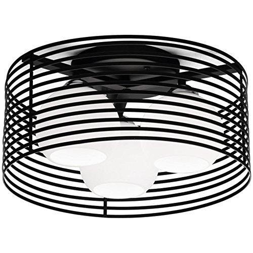 HBA Runde LED-Deckenleuchte, Schlafzimmer Licht Eisen Einfache moderne Küche Esszimmer Deckenleuchte Kreative LED-Studie Zimmer Lampe (Farbe: Schwarz, Ausgabe: Weißes Licht)
