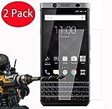 FoneExpert® 2 Pack - Blackberry Keyone Verre Trempé, Vitre Protection Film de Protecteur d'écran Glass Film Tempered Glass Screen Protector pour Blackberry Keyone
