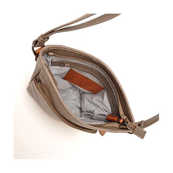 berba Chamonix 096 - Umhängetasche in taupe