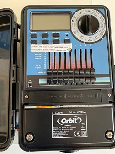Orbit 94469 Programmatore Slide 9 stazioni - Timer Automatico Per Irrigatori-Esterno