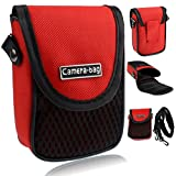 LUPO Compact Camera Case - Universal Soft Bag Pouch, Strap, Belt Clip, Shockproof with Pocket
