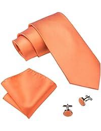 Barry.Wang Classic Solid color Tie set per uomo matrimonio Business