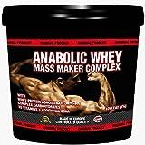 3000g / 3kg ANABOLIC WHEY MASS MAKER COMPLEX | Für Hardgainer | Unterstützt den Muskelaufbau | Mit Whey Protein und Maltodextrin | Reich an Aminosäuren, BCAA & Glutamin| Erdbeer Geschmack