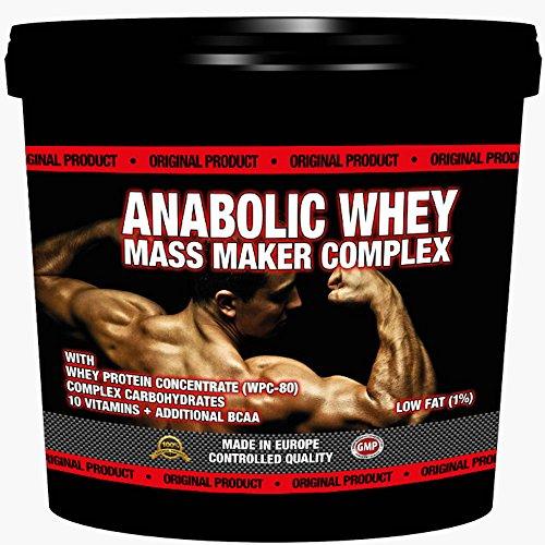 3000g / 3kg ANABOLIC WHEY MASS MAKER COMPLEX | Für Hardgainer | Unterstützt den Muskelaufbau | Mit Whey Protein und Maltodextrin | Reich an Aminosäuren, BCAA & Glutamin| Vanille Geschmack -