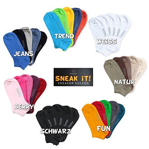 10 Paar original SNEAK IT! Sneaker Socken für Sie und Ihn – Viele trendige Farben und Größen 35-50 wählbar! – Qualität von celodoro