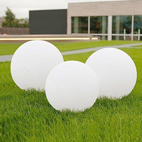 Yahee 3 Set LED Solarkugel Solarleuchte Gartenkugel mit Erdspieß, Durchmesser 20cm Kugelleuchte Gartenkugel Außenleuchte