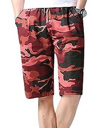 ALIKEEY Pantalones Cortos De Playa Camo Hombre Camouflagshorts Swim Trunks Quick Sport Beach Surfing NatacióN Fashion Flores…