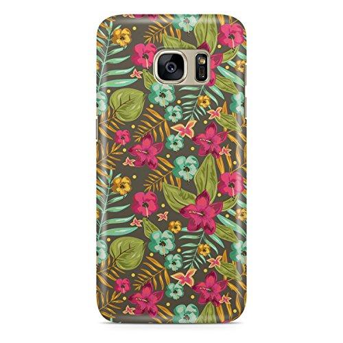 Queen Of Cases Coque pour Apple iPhone 5S Motif Retro Hawaii fleurs-Premium Multicolore en plastique
