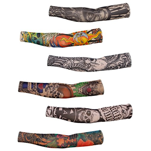 6pz-tatuaggio-temporaneo-manica-braccio-manicotti-maniche-di-braccia-protezione-sportiva-ciclismo-2