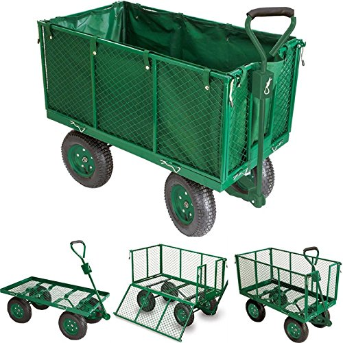 ProBache - Chariot remorque de jardin très grande capacité 300 kg avec bâche