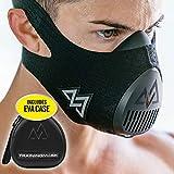 TRAININGMASK Trainingsmaske 3.0 [All Black + Free Case] für Performance Fitness, Workout Maske, Laufmaske, Atemmaske, Widerst