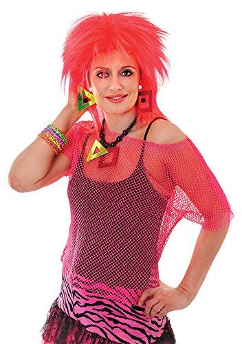 Bristol Novelty AC855 Netz-Top für Damen, Neon, Größe 38-40