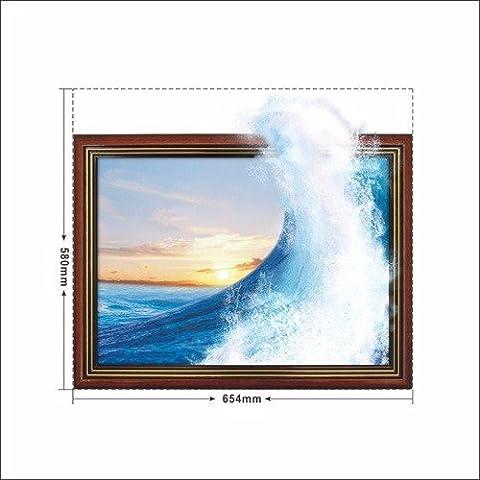 Le onde enormi ) 3D( parete carta da parati camera da letto soggiorno divano TV HD sfondo auto carta adesiva