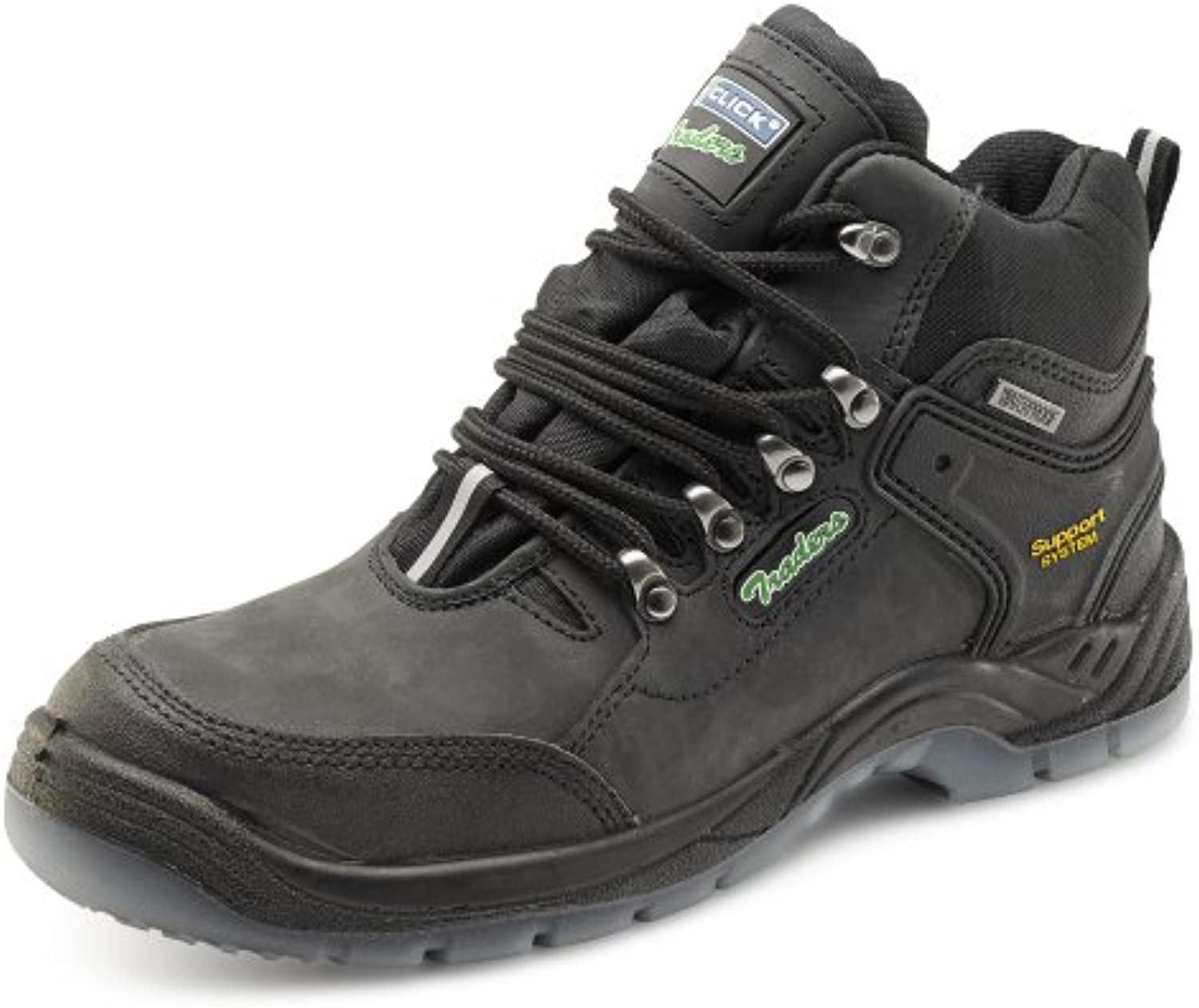 Click Workwear Mens Anti Slip Leather Hiker Safety Work Boot   Size 12