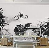 YUYINGXIANG Photo Papier Peint Rétro Train 3D Murale Salon Café Papier Peint Chambre Murale Décoration De La Maison Papier Peint,256cmx350cm
