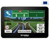 MAPPY Iti S446 Europe - Carte à vie - GPS + Housse gris métal pour GPS avec écran 4,3' + Support universel