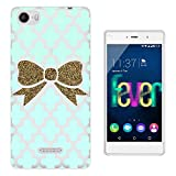 C0705 - Gold Cute Bow Wallpaper Design Wiko Fever special