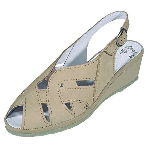 DocComfort-pantol.bequem 330087, sandales femme Beige - beige Weite G