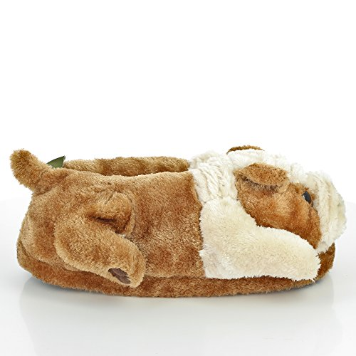 Sleeperz-Bulldog-Ingles-Zapatillas-de-casa-animales-originales-y-divertidas-Adultos-y-Nios-Hombre-y-Mujer