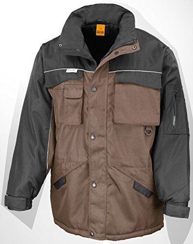 RT72 Workguard Heavy Duty Combo Coat Jacke Arbeitsjacke Winterjacke winddicht 3XL,Tan-Black (Jacke Tan Kinder)