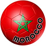 autocolant sticker equipe voiture moto football drapeau sport ballon foot maroc
