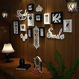 Multi-Picture Frames Wall Set 10 Pieces, Photo Frame Pine Frames, Retro Picture Photo Frames Wall Set HD Plexiglas für Schlafzimmer, Wohnzimmer, Esszimmer Wanddekoration,A
