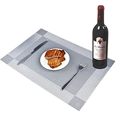 Place mats For Dining Table/Kitchen/ Outdoor / Home/Hotel, Insulation Dining Room Placemats Easy to clean Heat Resistant Washable Stain-resistant Insulation Non-slip Weave Placemats, Simple Style and elegant Placemats Table Mats place mats produced by ZHO