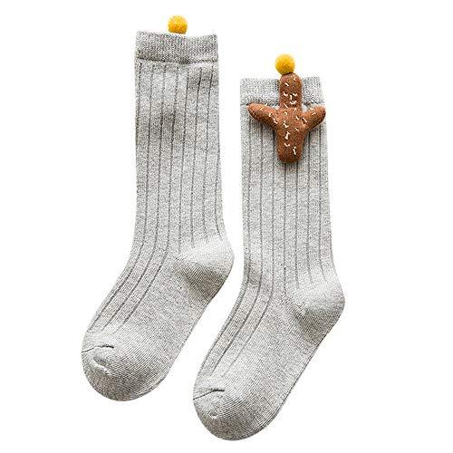Quaan Süßigkeiten Kinder Kleinkind Baby Mädchen Jungen Karikatur Anti-Rutsch Gestrickt Lange Socken Knie Socken Halloween Sportsocken Strumpf Socken Niedlich Festival Weich gemütlich Stricken