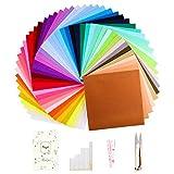 Fuyit Filzstoff 48 Farben Bastelfilz Farbig Filz Blätter