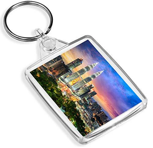 Reiseziel Vinyl Keyrings Kuala Lumpur Malaysia Schlüsselanhänger - IP02 - Petronas Twin Towers Reise-Geschenk # 12582 -