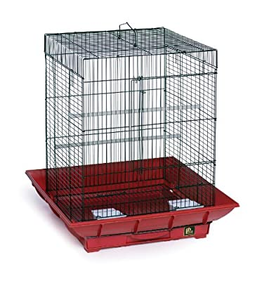 Prevue Hendryx SP850R/B Clean Life Cockatiel Cage, Red and Black by Prevue Pet Products, Inc.