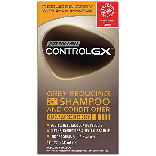 Juste pour homme contrôle GX 2 en 1 141,7 gram Shampooing + revitalisant Gris Boîte de 141,7 gram (lot de 2)