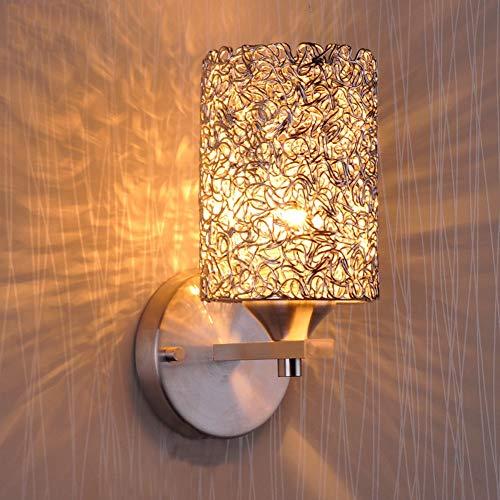 FLSH Lámpara de Pared Ajustable de Cromo Aluminio Pantalla de Malla 26cm Alto Dormitorio lámpara de Pared Hotel