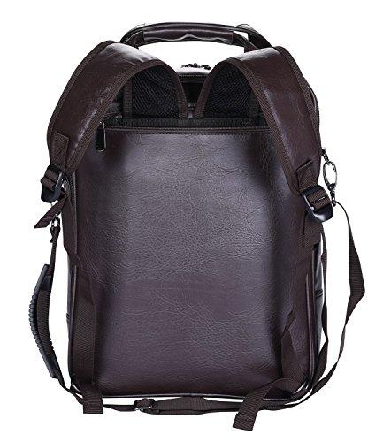 Imagen de videng polo  para portátil cuero negocio viajar colegio pantalón para 13 15 17 pulgadas marrón v4  alternativa