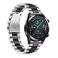 Honelife 22mm Watchband Stainless Steel Watch Band Strap Wristband Replacement Compatible with HUAWEI WATCH GT2 46mm / HONOR MagicWatch2 46mm / HONOR MagicWatch #1