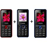 IKALL K20(Red & Blue) , K25 (Blue) Combo Power Pack Of Three Basic Keypad Feature Mobile Phone