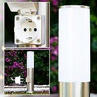 Presa elettrica Moderna Lampioncino da giardino Acciaio inox Design - Moderna Basso Elettrico