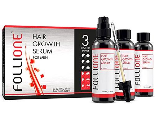 Siero crescita capelli uomo. Testato dermatologicamente. Trattamento anticaduta e ricrescita capelli. Sviluppato come alternativa al Minoxidil. Fornitura per tre mesi.