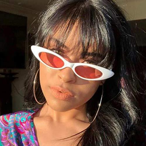 TJJQT Sonnenbrillen Lange kleine Katze Sonnenbrille Frauenrote Linse AugeSonnenbrilleSchatten für Frauen Trending Produkte