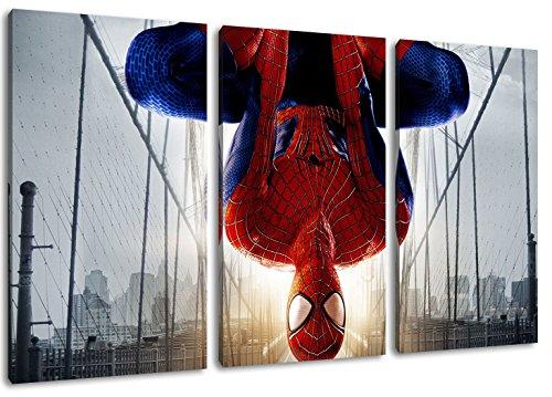 Imagen de Spiderman sobre lienzo, (Total Tamaño:...