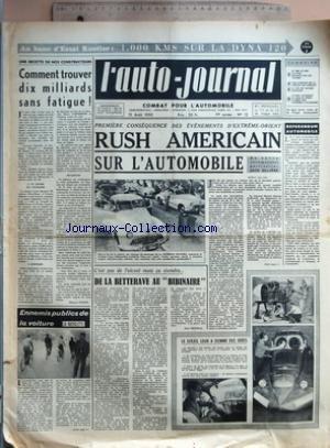 AUTO JOURNAL (L') [No 12] du 15/08/1950 - AU BANC D'ESSAI ROUTIER - 1.000 KMS SUR LA DYNA 120 - UNE RECETTE DE NOS CONSTRUCTEURS - COMMENT TROUVER DIX MILLIARDS SANS FATIGUE ! PAR MAURICE EVRARD - ENNEMIS PUBLICS DE LA VOITURE - LA BICYCLETTE - PREMIERE CONSEQUENCE DES EVENEMENTS D'EXTREME-ORIENT - RUSH AMERICAIN SUR L'AUTOMOBILE - C'EST PAS DE L'ALCOOL MAIS CA VIENDRA... - DE LA BETTERAVE AU BIBINAIRE PAR JEAN MISTRAL - LE SOLEIL LEUR A DONNE DES IDEES - NI FARD NI CODE - LES ECHOS - NOUVEAUX par Collectif